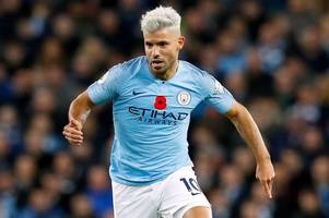 sergio aguero could return for manchester city against leicester city
