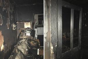 shocking pictures show fire damage to long eaton home believed to have been caused by 'faulty' christmas lights