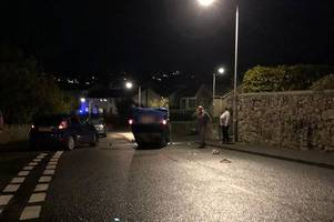 Man arrested for alleged drink-diving after car overturns in St Austell