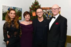 strictly winner kevin clifton and louise redknapp make surprise visit to grimsby together