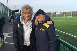 rock star rod stewart was in haverhill yesterday