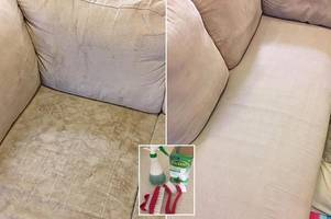 Mum's ingenious £2 cleaning trick that has transformed her stained furniture