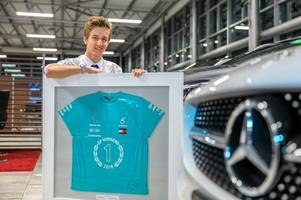 scottish schoolboy auctioning off 'double 2018' mercedes t-shirt signed by f1 champ lewis hamilton