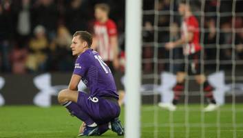 Arsenal Goalkeeper Bernd Leno Says He Has No Regrets After Late Error Hands Southampton Victory