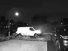Amazon driver smashes into car and flees the scene