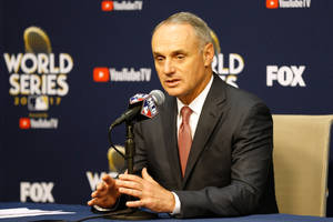 mlb commissioner confirms interest in buying fox's regional sports networks (video)