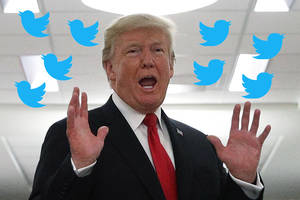 twitter shoots down trump's unfounded claim that it's 'much more difficult' to follow potus' account
