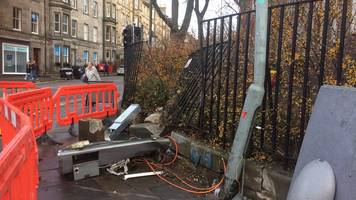 man charged over wall car crash in edinburgh