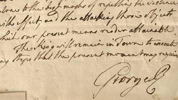 king george iii's 1803 war letter to be sold at auction