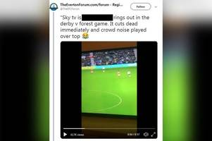sky sports admit drowning out foul-mouthed abuse aimed at them by derby and forest fans