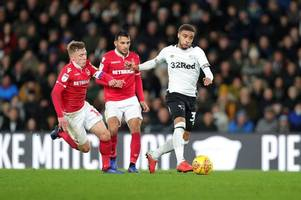 nigel clough says derby county could have had two players sent off against nottingham forest