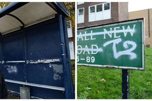 'dangerous' gang known as 't2' tag bus stops and signs in 'turf war' on streets of stoke-on-trent