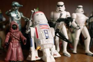the toys of christmas past including star wars, dungeons and dragons and hot wheels