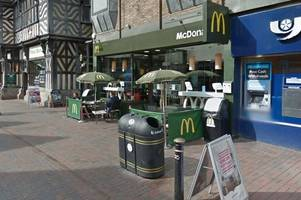 police called to 15-strong gang of youths causing trouble at town centre mcdonald's
