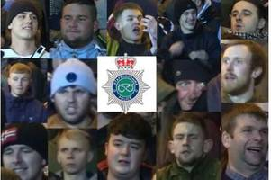 police want to speak to these 15 men after trouble at football match between stoke city and port vale