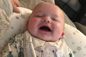 parents' shock as 'bouncing' baby boy diagnosed with leukemia after mum noticed one and only symptom