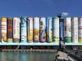 artists use 850,000 litres of paint to make south korean grain silos world's largest outdoor mural