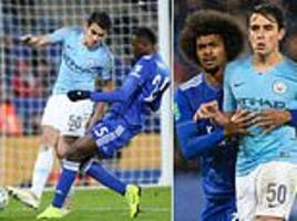 manchester city starlet eric garcia impressed against leicester... but who is 17-year-old?