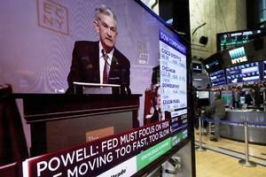 stocks wipe out gains after fed raises rates, signals fewer hikes in 2019