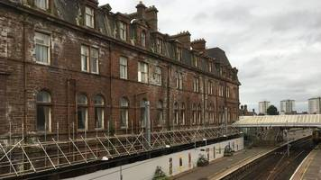 ayr train service resumes after hotel safety fears