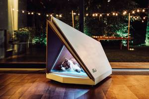 this ford dog kennel uses noise-canceling tech to take the fear out of fireworks