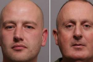 faces of men who ram-raided leicester currys pc world and oadby sainsbury's leaving £67k damage