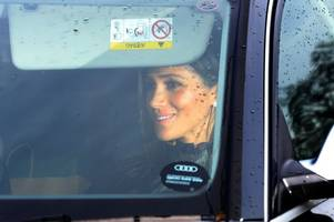 meghan markle and kate middleton smile arriving to christmas lunch with the queen amid bitter feud rumours