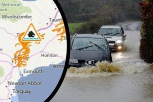 flood alert in force now for exeter and surrounding towns and villages