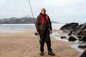 angler tells of terrifying moment he was swept into sea by a 'wall of water'