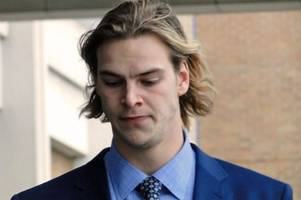 university rower attacked two men after downing 10 pints on rowdy night out, court told