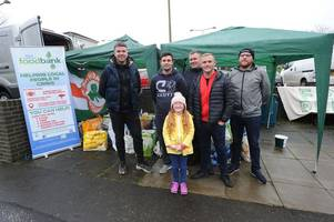 west lothian football supporter raises enough for 1400 meals with charity food drive