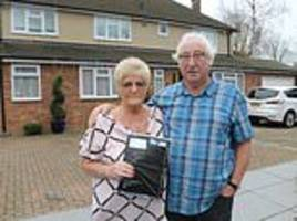 couple who live in lewis hamilton's old house in stevenage hertfordshire on his slum comments