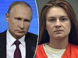 putin claims maria butina was not working for the russian government
