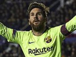 Lionel Messi is averaging his best-ever goals-and-assists ratio at 31