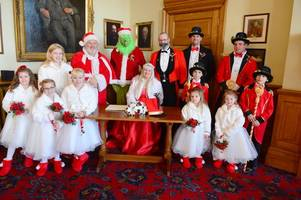 how the grinch stole a christmas wedding in cleethorpes