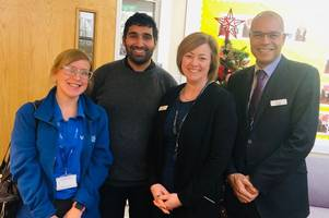 why gogglebox star baasit saddique visited this lincolnshire school