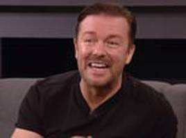 ricky gervais is caught up in n-word storm as he utters the word 'n*****' in resurface tv interview