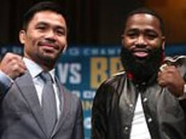 manny pacquiao's world title clash with broner to be shown live onitv4