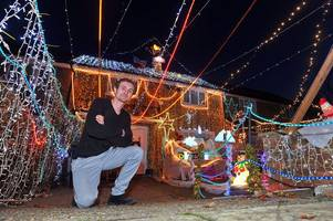 woking builder attempts world record for most christmas lights on house