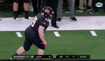 player with down syndrome plays last snap of texas state championship