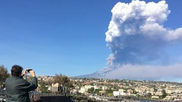 Etna erupts in Sicily amid dozens of tremors