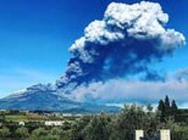 Mount Etna releases gigantic ash cloud over Sicily