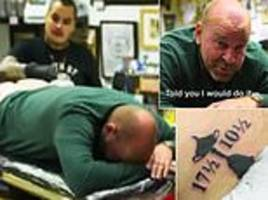 Europe's Ryder Cup captain Thomas Bjorn gets celebratory tattoo on his backside
