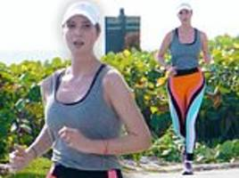 ivanka trump heads out for a jog on christmas with secret service agent at mar-a-lago