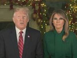 president trump and wife melania pray for peace on earth in christmas video and send love