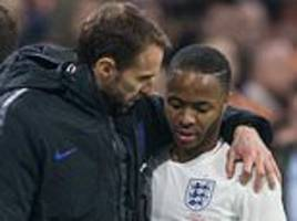 england boss gareth southgate commends raheem sterling for standing up to racism