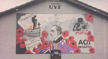 uvf terror mural 'an insult to all who wear poppy'