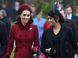 kate and meghan 'were ordered to call christmas day truce by the queen'