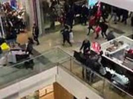 dozens of shoppers flee in terror as police swoop on westfield mall to seize boxing day 'knifeman'