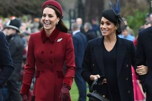 meghan markle and kate middleton forced to put on united front after queen 'demands truce'